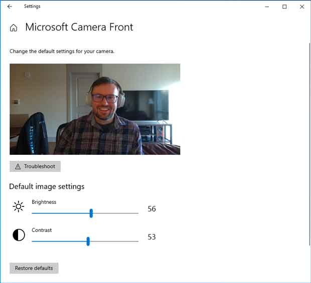 Windows 10 build 21354 - cameras