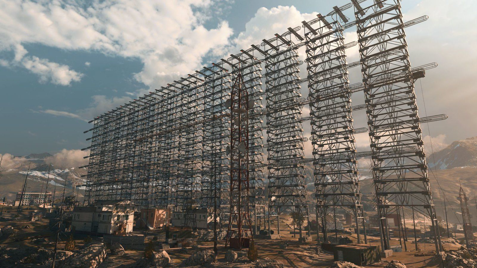 The radar array is located in the northeast