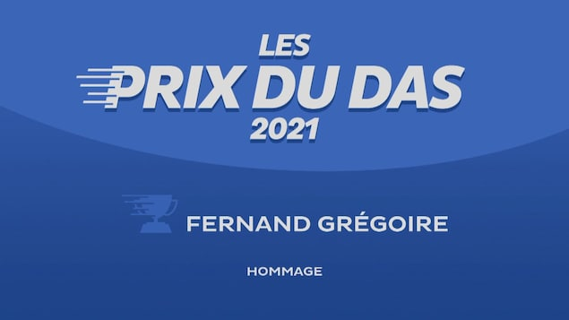 DAS Awards ceremony poster in honor of Fernand Gregoire