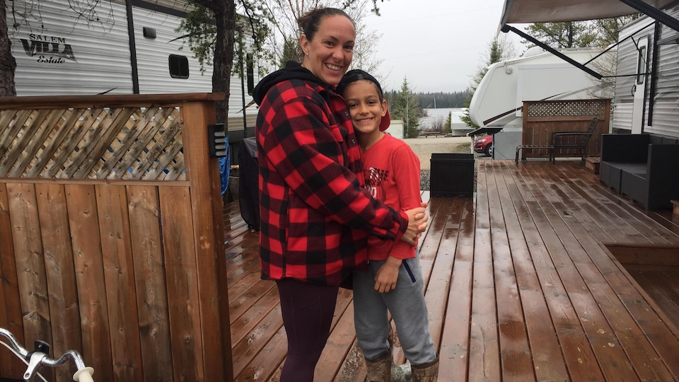 Jennifer Carroll and her son Felix Britton are two from Hearst Camps.