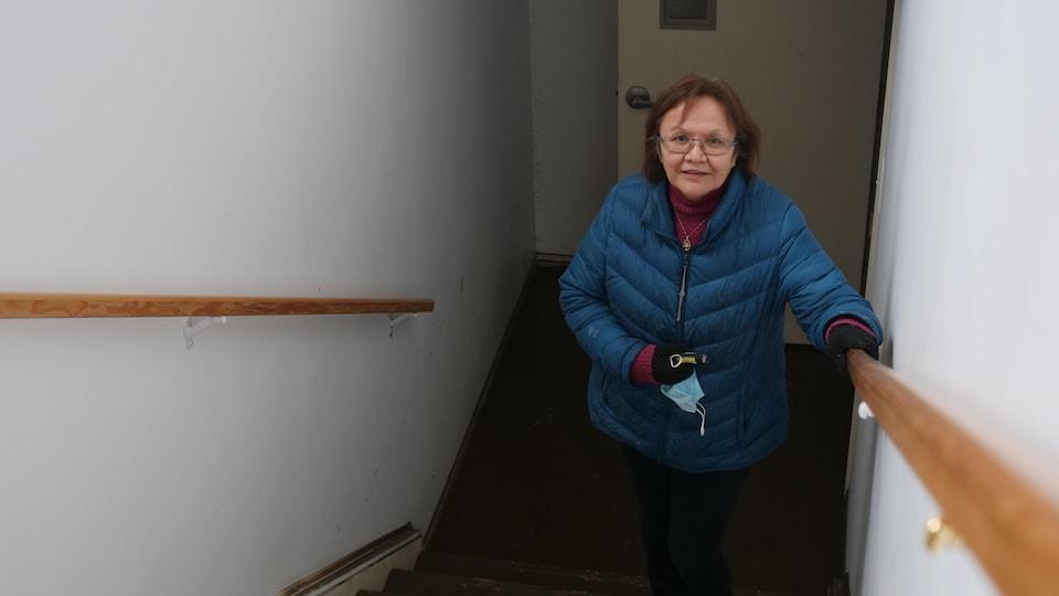 Norwegian Martina in the stairwell.
