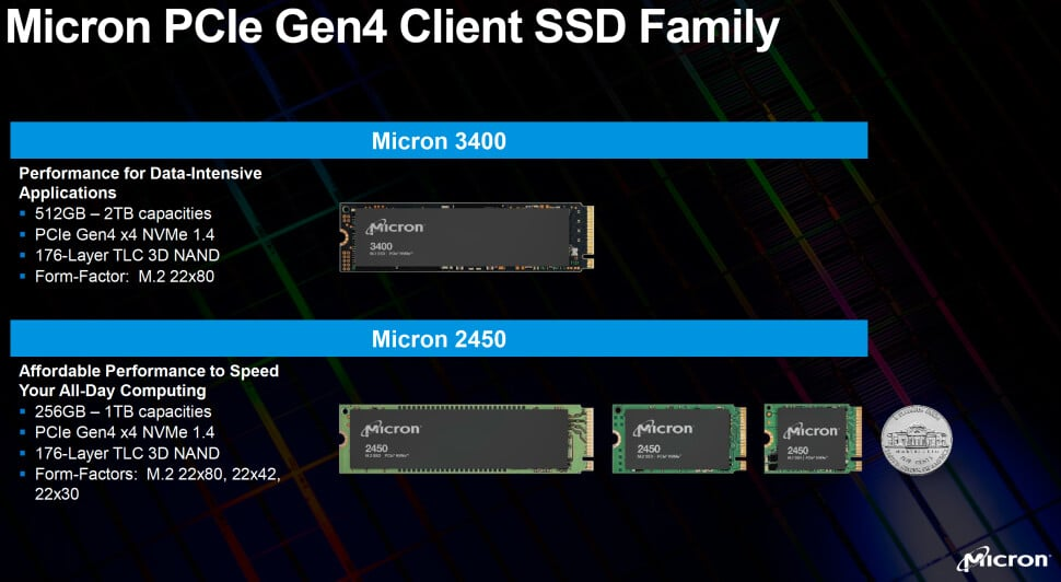 Picture 2: Micron announces PCIe 4.0 SSDs with 176-layer 3D NANDذاكرة