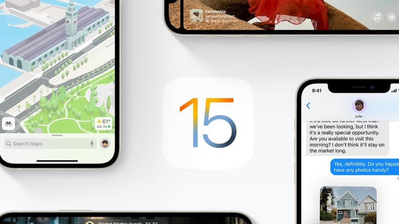 ios 15 . preview