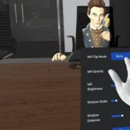 Oculus interface works in mixed reality