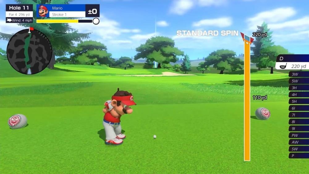 A rare moment of calm in Mario Golf: Super Rush.