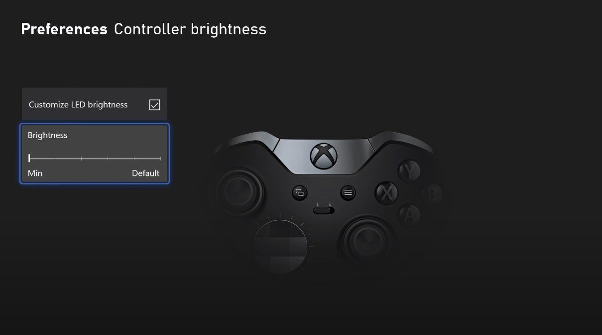 Xbox Series X/S brightness controller