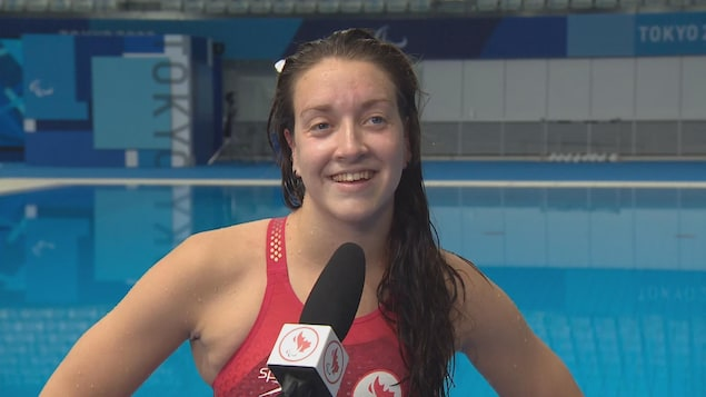 Swimmer Sabrina Duchesne answers interview questions.