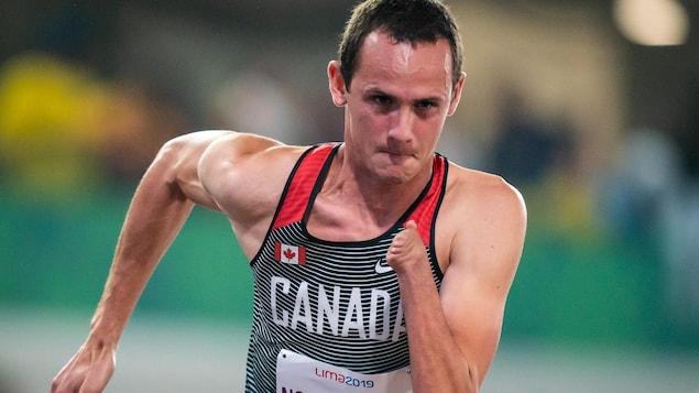 Thomas Normando, Lima 2019 - Paralympic athletics // Paralympic athletics.  Thomas Normando competes in the men's 400m T47.  // Thomas Normando competes in the men's T47 400m.  08/25/2019.