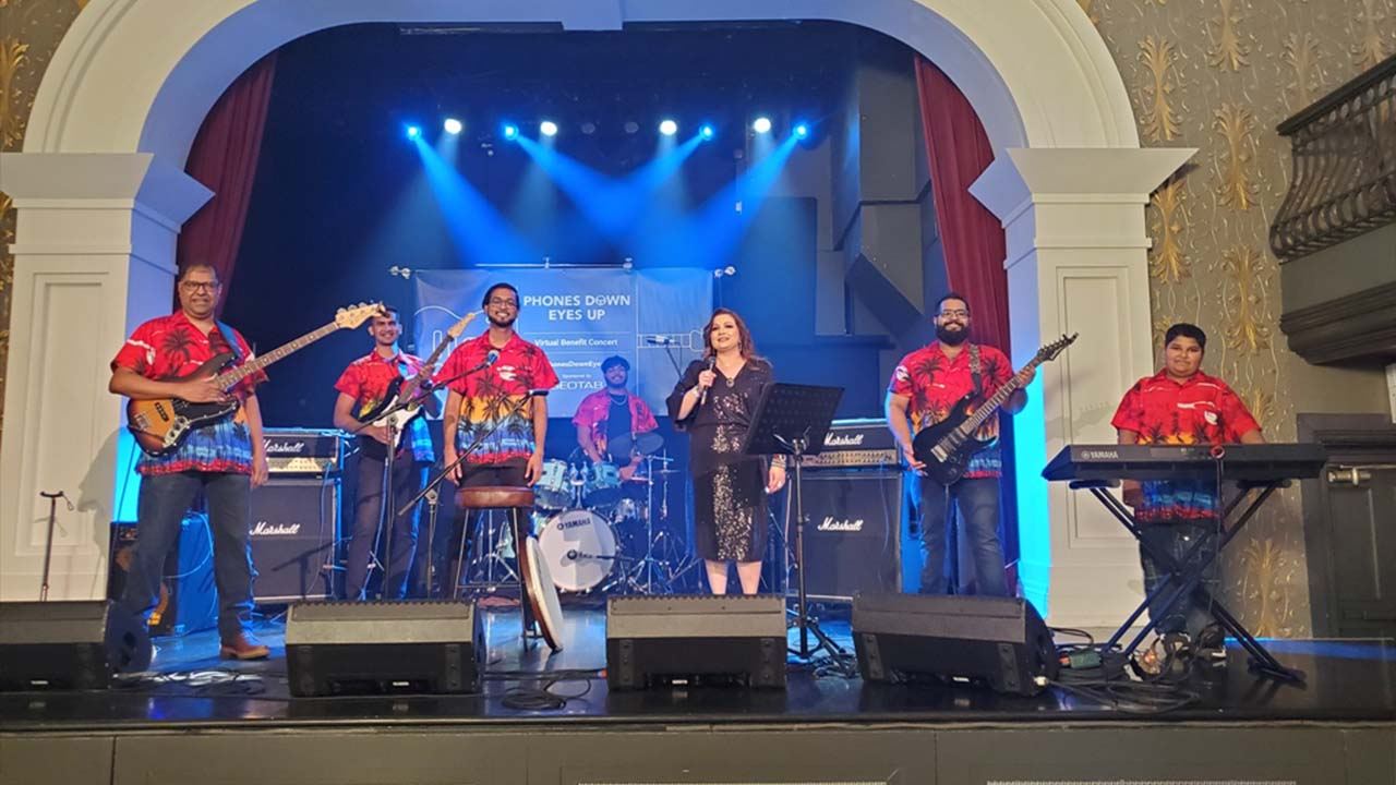 Blue Bay at the Geotab Virtual Concert in August 2021.