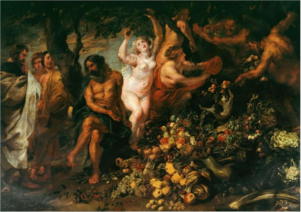 Pythagoras was the first to define the vegetarian diet as we know it.  Peter Paul Rubens Canvas.  © Pierre Paul Rubens, Wikimedia Commons, Public Domain
