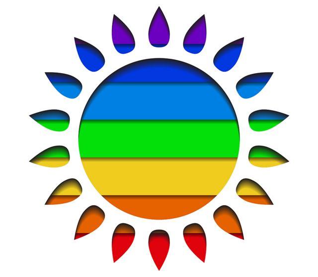 multicolored sun